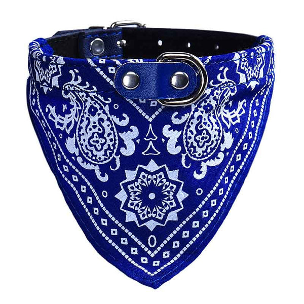 Adjustable Pet Collar, Lovely Printed Fashion Pet Scarf Collar - Shipped from the US