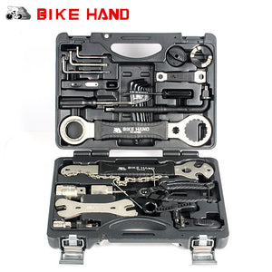 BIKE HAND - Bike Repair Tool Kit, 18 in 1 Mountain Bike Professional Repair Tool Kit, includes even Spoke repair, Great for Freewheel Pedal Bikes