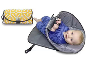 Clean Hands Changing Pad. 3 in 1 Diaper Clutch Changing Pad, Play-mat With Redirection Barrier