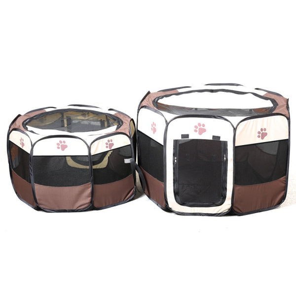 Shipped From the US Breathable Dog House, Portable Folding Pet Playpen, Dog/Puppy Kennel Outdoor Supplies