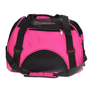 Portable Pet Comfort Travel Oxford Carrier, Shoulder Bag Foldable, Breathable, Outdoor Carrier For Small Dogs And Cats.