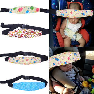 Adjustable Safety Baby Sleep Nap Car Seat Protector,  Car Seat Aid Head Band.  Great Idea, Hold Your Babies Head Up In The Car When Sleeping