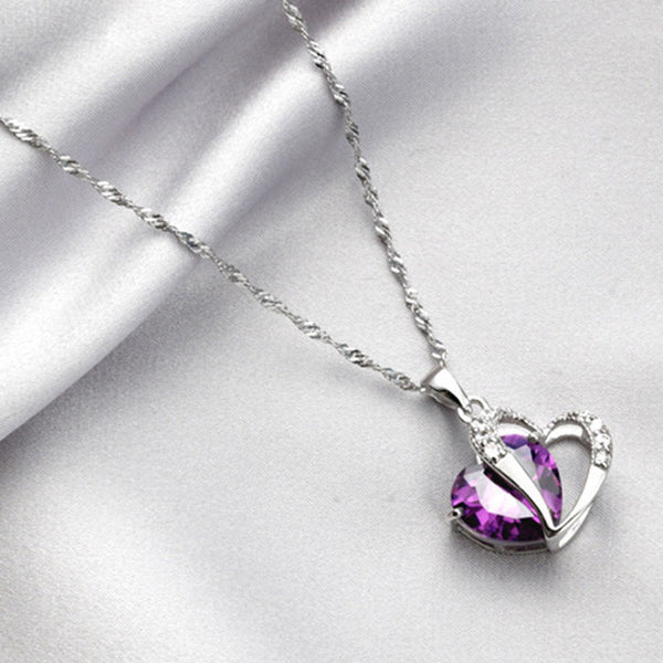 Women's Heart Designed Silver Necklace