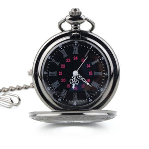 Vintage Hollow Roman Flower Alloy Men Pocket Watch