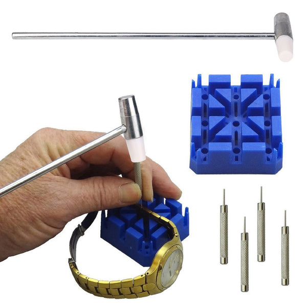 5 Piece Watch Band Link Remover Repair Tool Kit Set