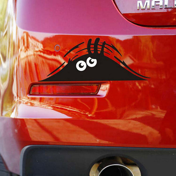 A Peeking Monster Car Sticker Decals, Waterproof Fashion Funny Car Styling Accessories 7.5*2.8""