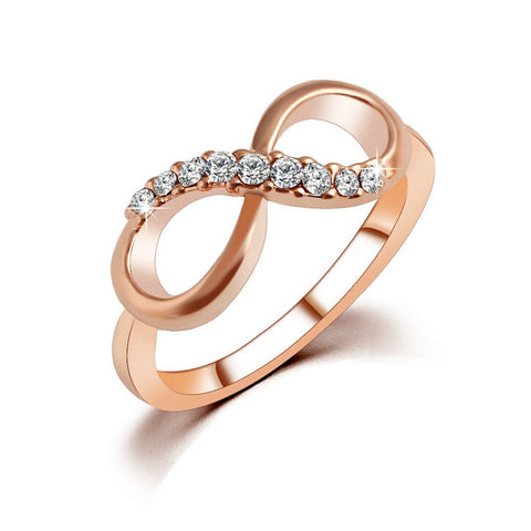 Luxury Metal Zircon Simple infinite Gold Ring, This Is For Your Forever Woman In Your Life.