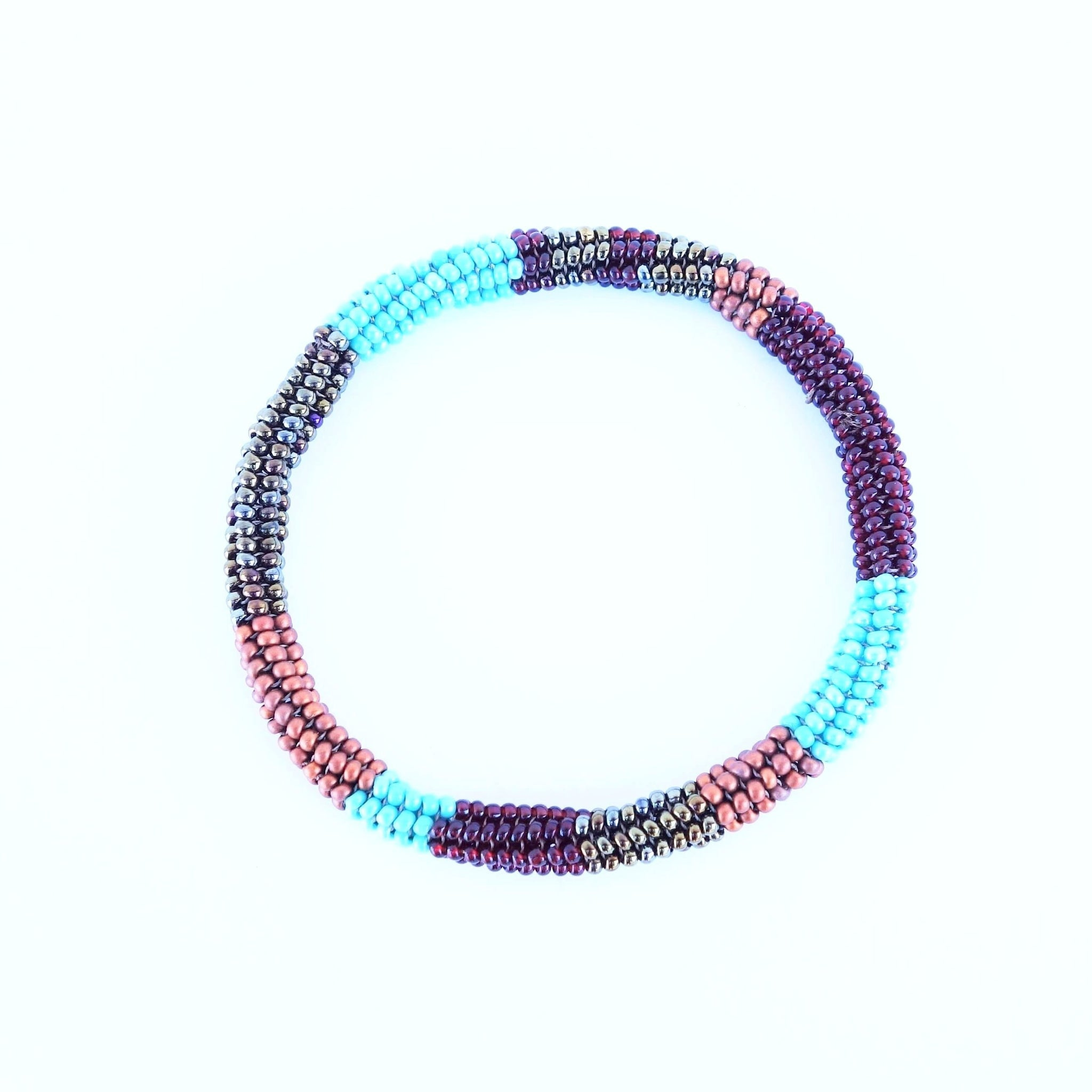 Certified Fair Trade Beaded Bangle