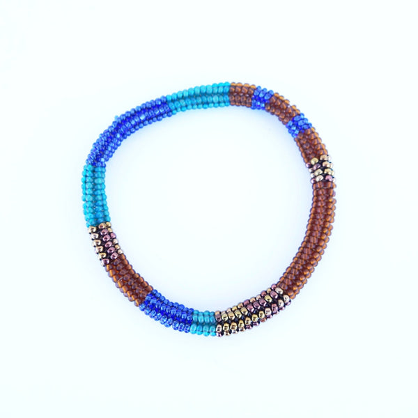 Altiplano Glass Bead Bangle Handmade in Guatemala Certified Fair Trade