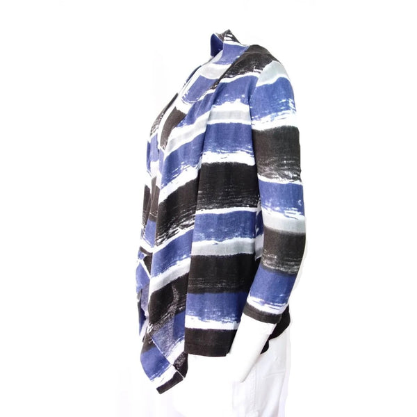 Organic Cotton Striped Cardigan Sweater