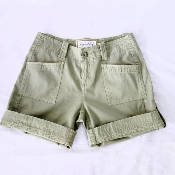 Organic Cotton Roll Up Shorts