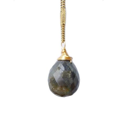 Labradorite Stone Drop Necklace