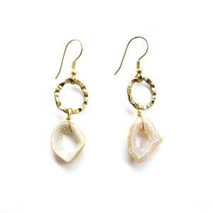 Serrv Geode Earrings