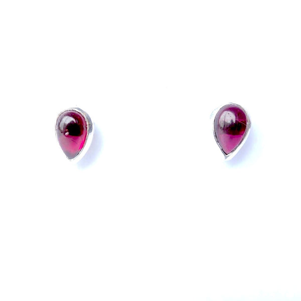 Serrv Garnet Post Earrings