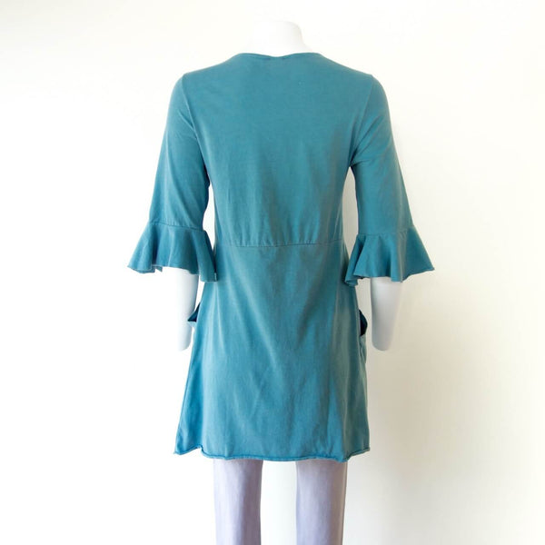 Organic Cotton Ruffle Sleeved Tunic Dress