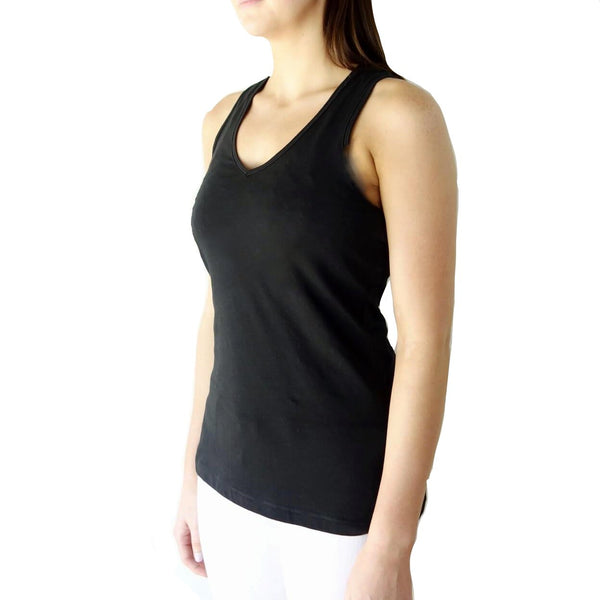 100% Organic Cotton Jersey Racerback Tank Top