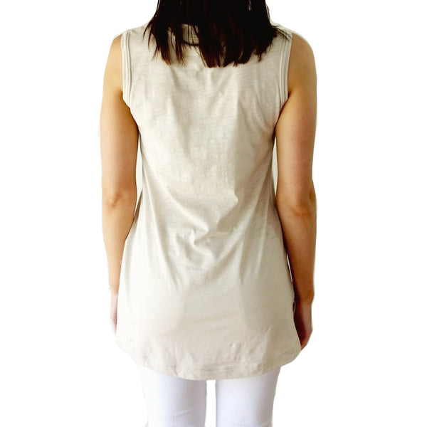 100% Organic Cotton V-Neck Top