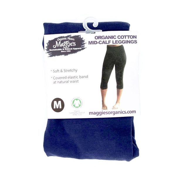 Maggie's Organics Organic Cotton Mid-Calf Leggings