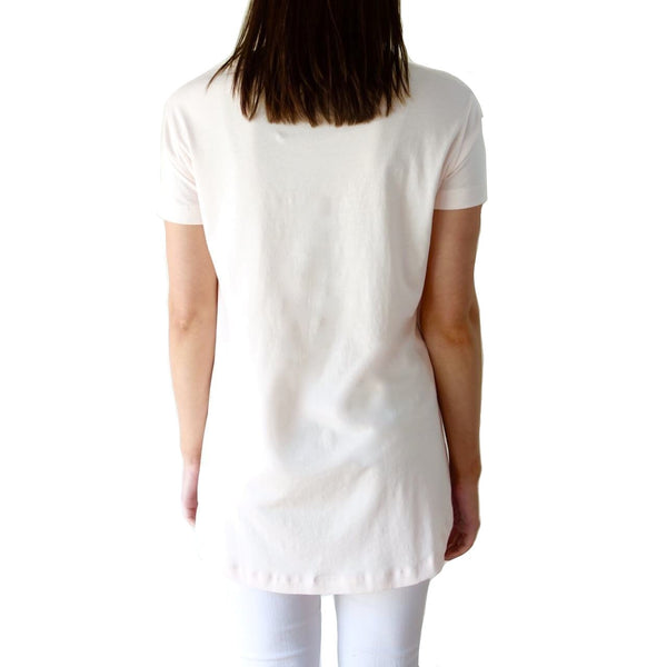 100% Organic Pima Cotton Relaxed High Low Top