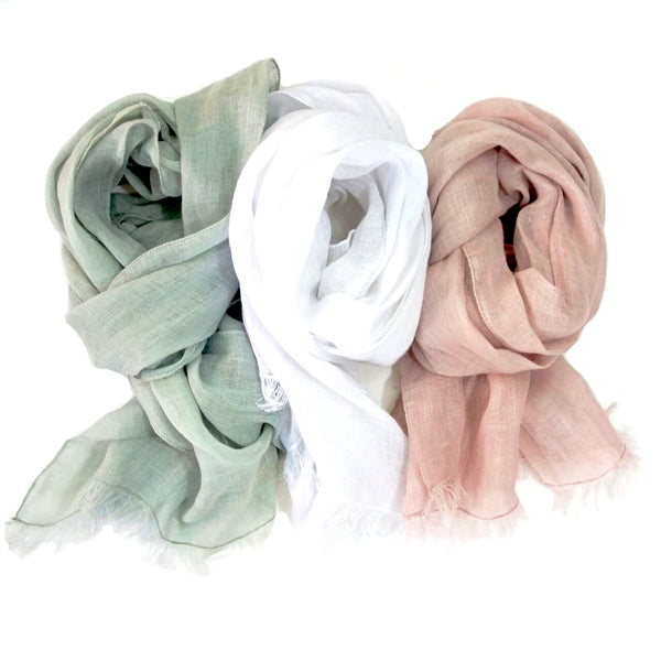 Dr. Flax Linen Sheer Scarves