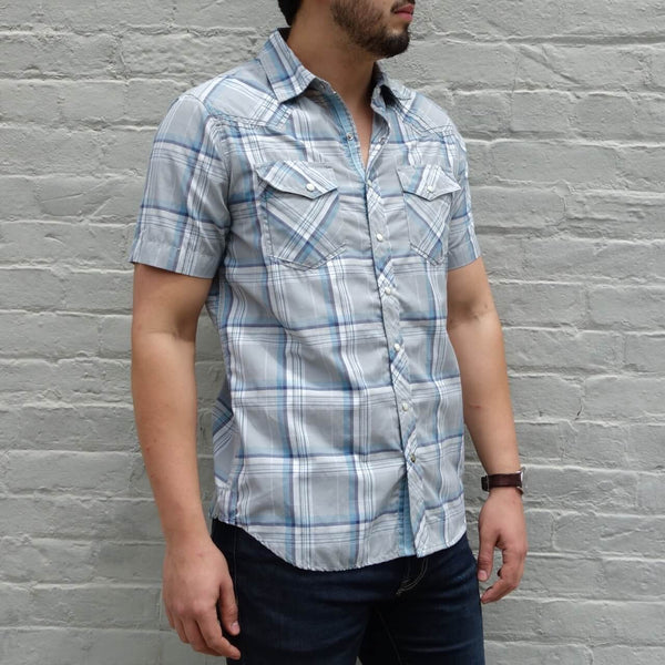 Organic Cotton Short Sleeve Men's Button Down Shirt