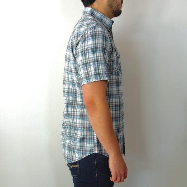 Organic Cotton Lightweight Short Sleeve Button Down Shirt