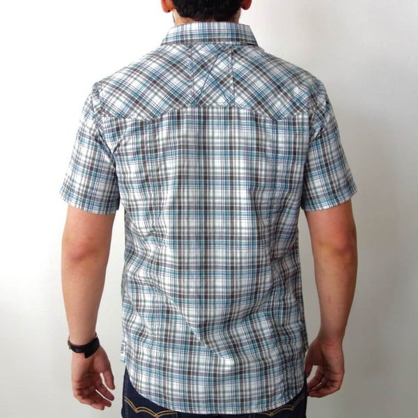 Men's Organic Cotton and Coolmax Polyester Short Sleeve Shirt