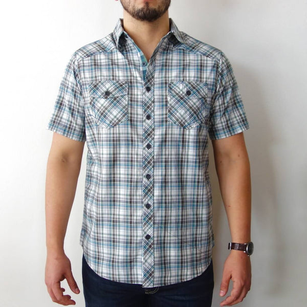 Organic Cotton Men's Short Sleeve Button Down Shirt