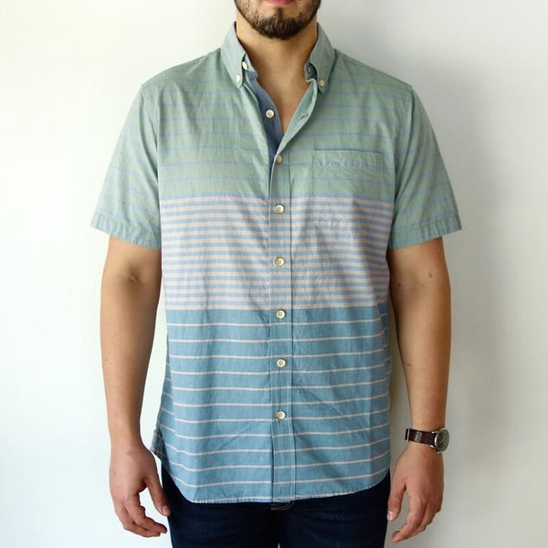 Men's 100% Organic Cotton Short Sleeve Button Down Shirt