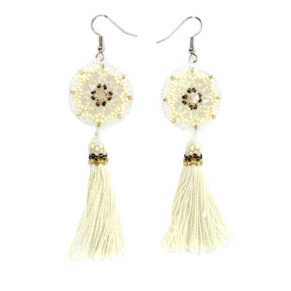 Altiplano Beaded Tassel Earrings