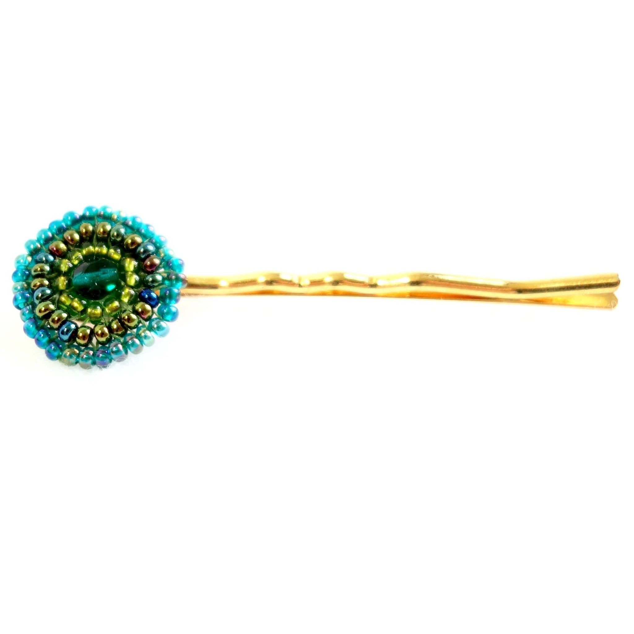 Seed Beaded Hair Pin Certified Fair Trade Made in Guatemala