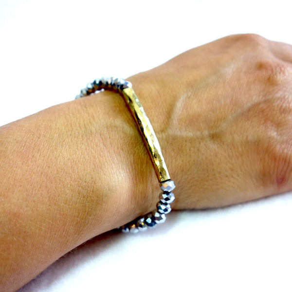 Fair Trade Gold and Silver Beaded Bracelet