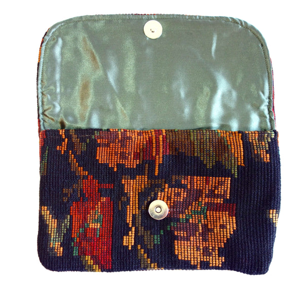 Recycled Huipile Wallet Clutch Handmade in Guatemala