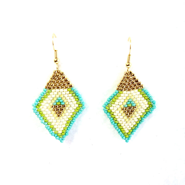 Altiplano Beaded Diamond Shaped Earrings