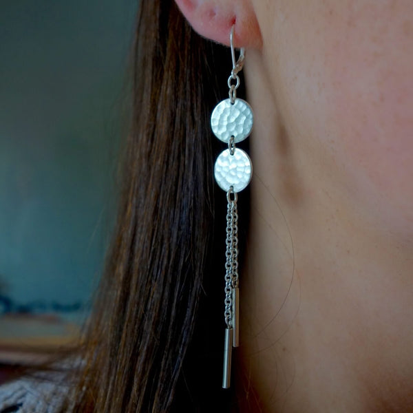 Silver Dangle Earrings Certified Fair Trade Made in Guatemala