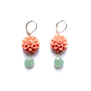Altiplano Resin Flower and Stone Drop Earrings
