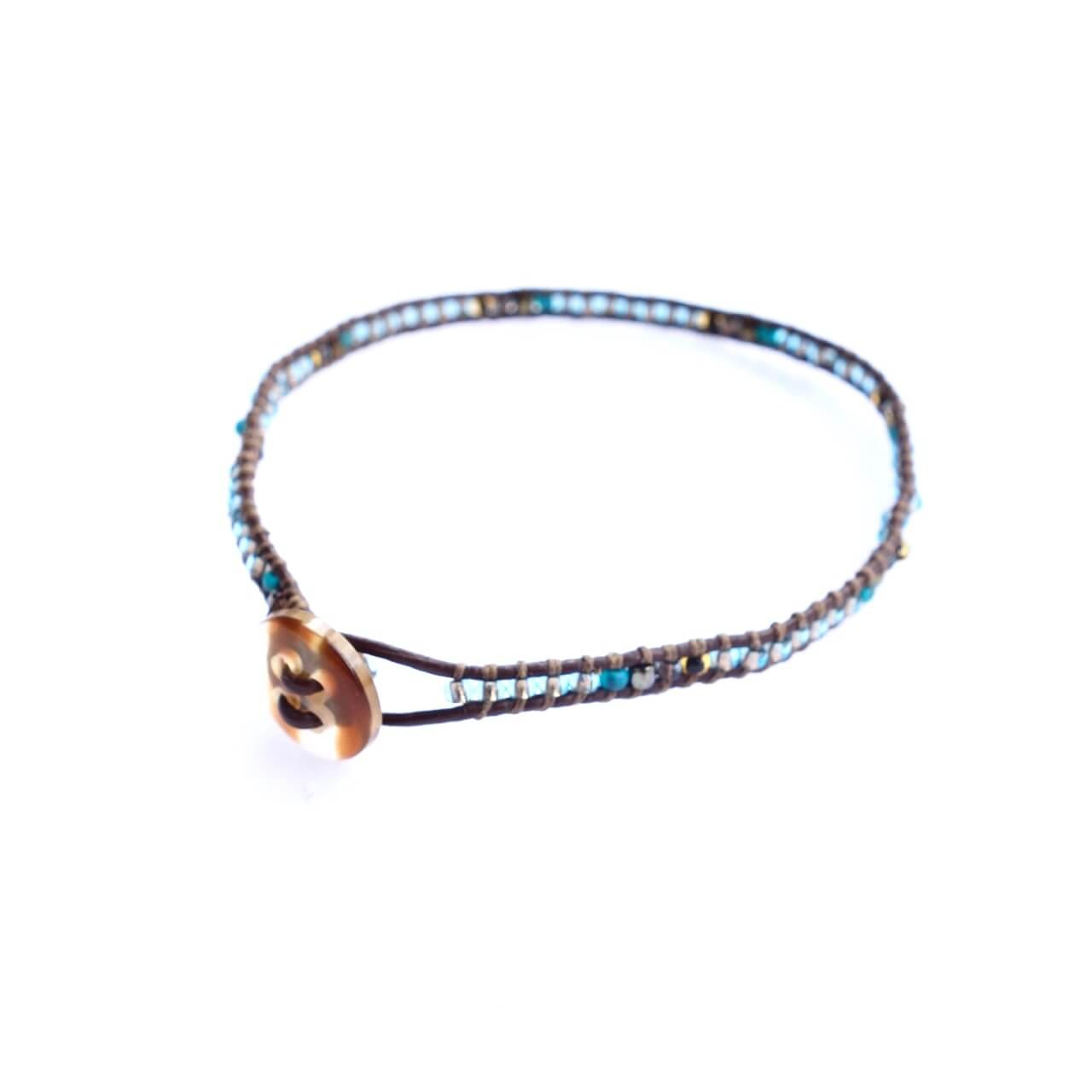 Altiplano Thin Leather Beaded Bracelet