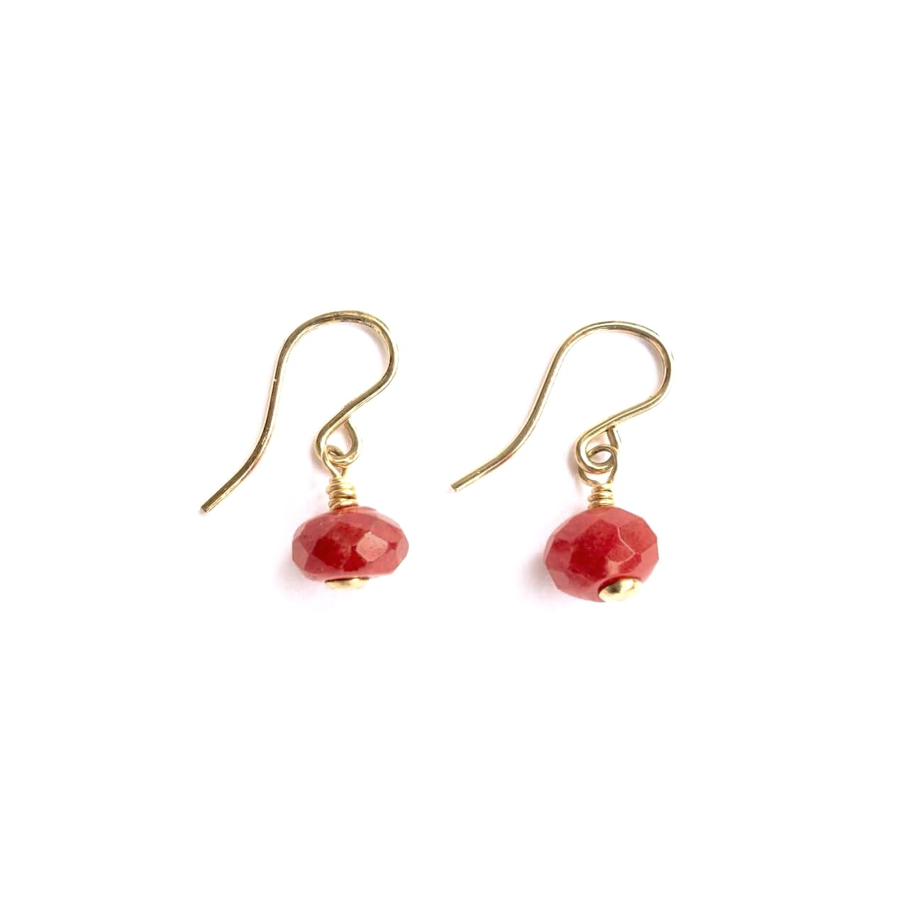 Theresa Wohlfeld Round Stone Drop Earrings