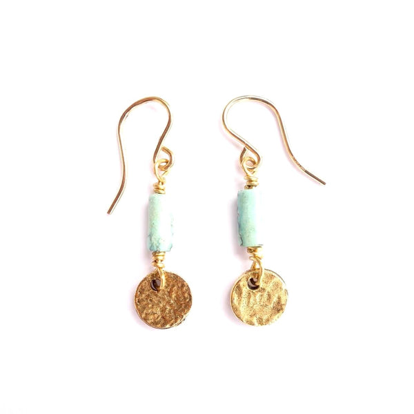 Turquoise and 14K Gold Fill Earrings