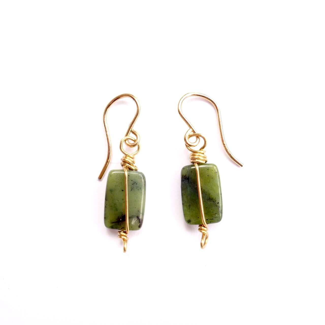 Theresa Wohlfeld Jade Wire Wrapped Earrings