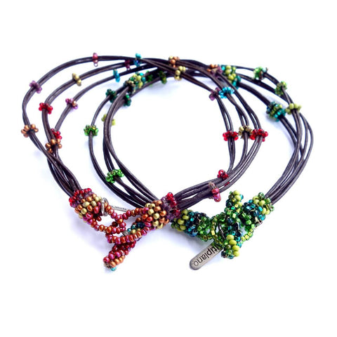 Altiplano Bead and Leather Anklet