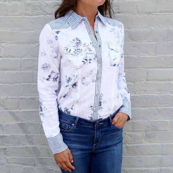 Women's 100% Cotton Button Down Shirt