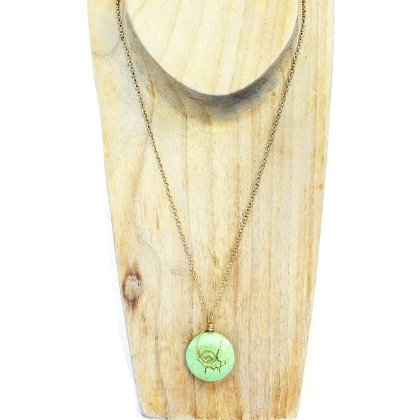 Theresa Wohlfeld Green Magnasite Necklace