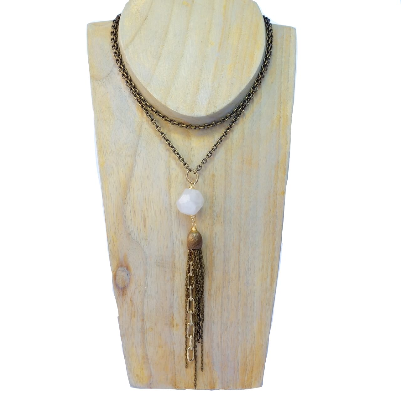 Bella Vita Jewelry Kaya White Quartz Necklace