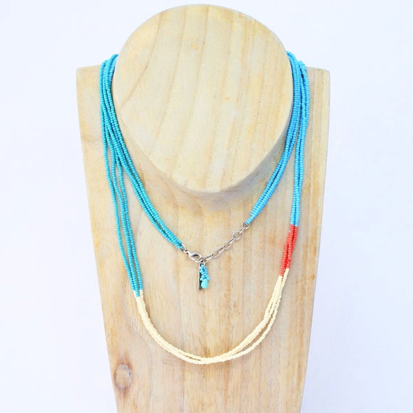 Certified Fair Trade Glass Seed Beaded Necklace Made in Guatemala
