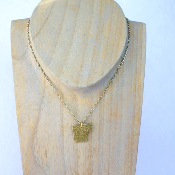 Bronze/Gold Arkansas Cut Out Necklace