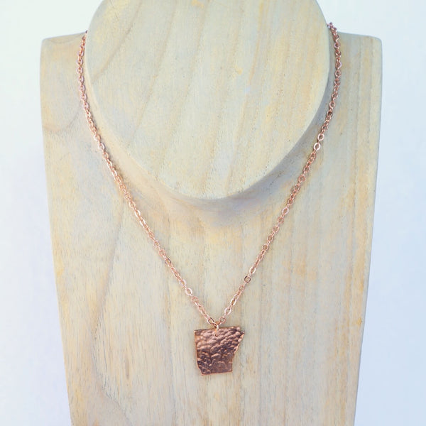 Arkansas Cut Out Necklace in Copper with Matching Chain