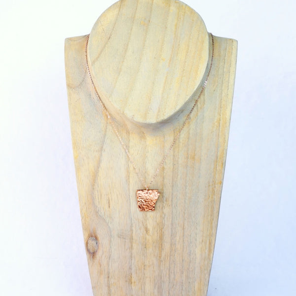 Copper and Rose Gold Arkansas Cut Out Necklace