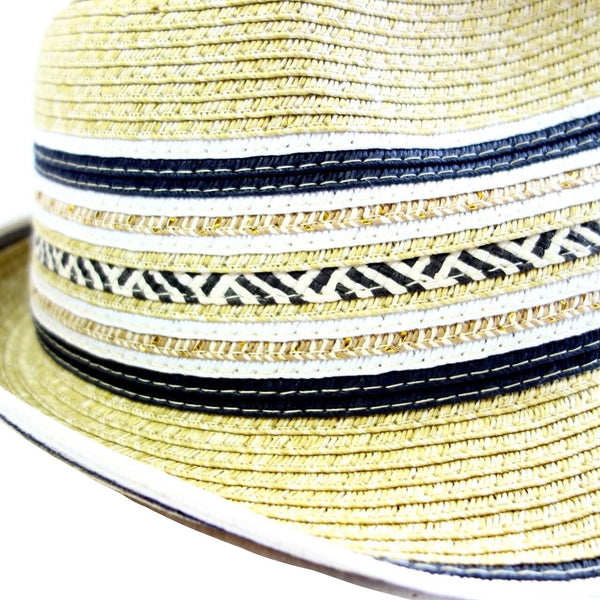 100% Paper Braid Straw Fedora