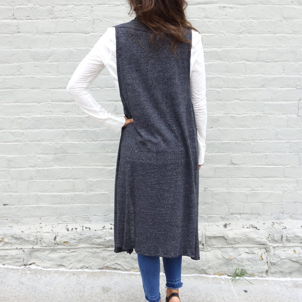 Duster Length Sweater Vest